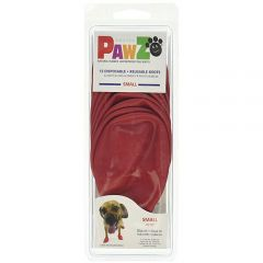 Pawz Disposable Rubber Dog Boots Small Red
