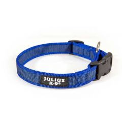 "Julius-K9 Color & Grey Collar For Dogs Width (3/4"" / 20 mm) Length (10.5""-16.5"" / 27-42 cm), Blue-Grey"