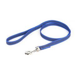 "Julius-K9 Color & Grey Super-Grip Leash Blue-Grey Width (0.7""/ 20mm) Length (4ft / 1.2 m) With Handle, Max for 110lb/ 50 kg Dog,"