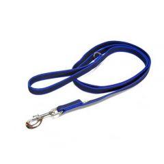 "Julius-K9 Color & Grey Super-Grip Leash Blue-GreyWidth (0.7"" / 20mm) Length (6ft / 1.8 m) With Handle and ""D"" ring , Max for 110lb/ 50 kg Dog"