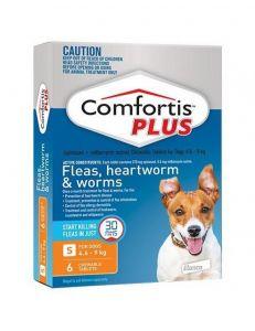 礼来恳福特增强版口服咀嚼驱虫药 适用犬用4.6-9公斤 Comfortis Plus for Small Dogs 4.6-9 kg(10.1-20 lbs), Orange