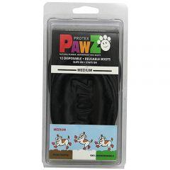 Pawz Natural Disposable Reusable Dog Boots - Medium BLACK