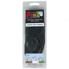 Pawz Natural Disposable Reusable Dog Boots - Small BLACK