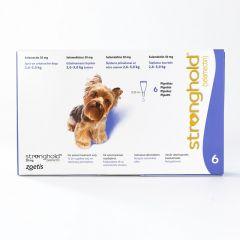 欧版辉瑞大宠爱 适用体重2.6-5kg公斤犬用 6支装  Stronghold for Dogs 2.6-5kg (5-10lbs) Violet, 6 Pack