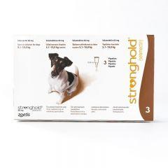 欧版辉瑞大宠爱 适用体重5.1-10公斤犬用 3支装  Stronghold for Dogs 5.1-10kg (11-22lbs) Brown, 3 Pack