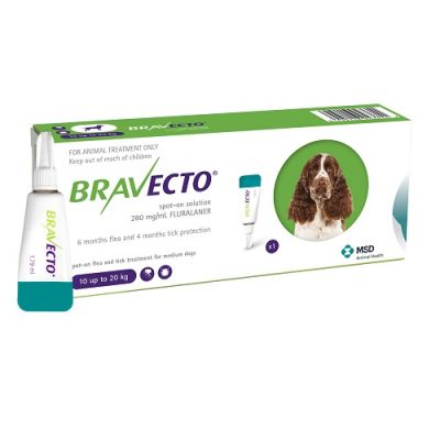 Bravecto Spot-On 500mg for Medium Dogs >1020 kg (22-44 lbs)