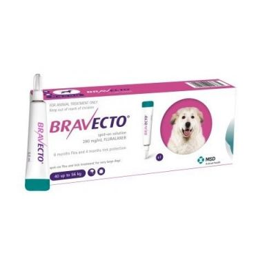 Bravecto Spot-On 1400mg for X-Large Dogs >40-56 kg (88-123 lbs)