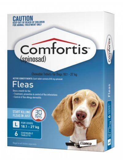 礼来恳福特口服咀嚼驱虫药 适用犬用18.1-27公斤 6粒装 Comfortis (Blue) for Dogs 18.1-27kg (40-59lbs)