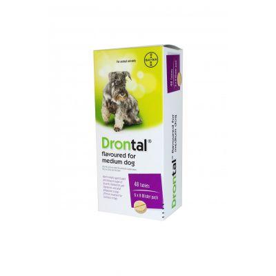 拜耳驱虫药风味片 中型犬 10kg/粒 单粒 Drontal Allwormer Flavoured Tablets for Medium Dogs - Single Tablet