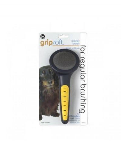 美国Gripsoft 软针钉耙梳 小号 Gripsoft Slicker Brush Soft Pin Small