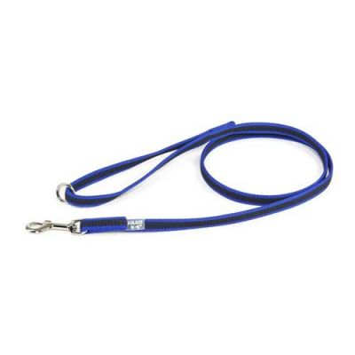 Julius-K9 Color & Grey Super-Grip Leash Blue-Grey Width (1/2