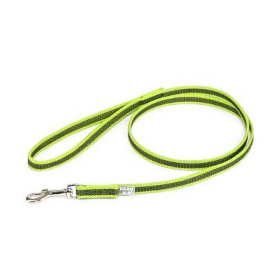 Julius-K9 Color & Grey Super-Grip Leash -Neon-Grey Width (1/2