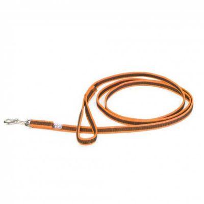 Julius-K9 Color & Grey Super-Grip Leash -Orange-Grey Width (1/2