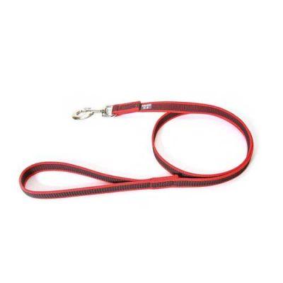 Julius-K9 Color & Grey Super-Grip Leash Red-Grey Width (0.7