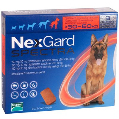 Nexgard Spectra Extra Large Dogs 30-60kg (66-132lbs)