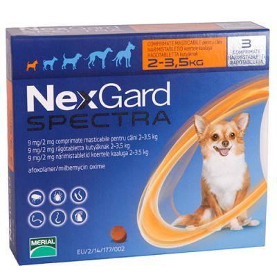 尼可信全能狗超小型犬用驱虫药 适用体重小于3.5公斤 6粒装 Nexgard Spectra X Small Dogs <3.5kg 6Pk