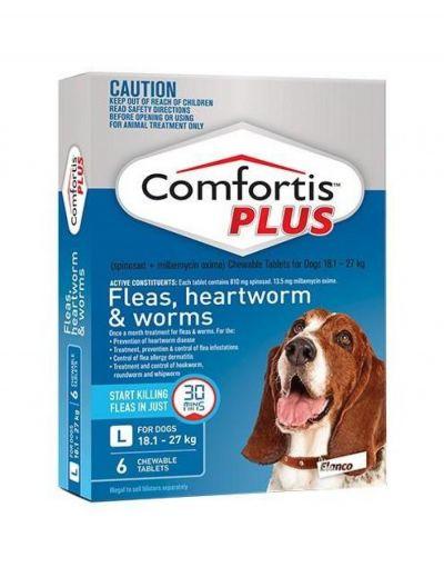 礼来恳福特增强版口服咀嚼驱虫药 适用犬用18.1-27公斤 Comfortis Plus for Dogs 18.1-27kg(40.1-60lbs) Blue