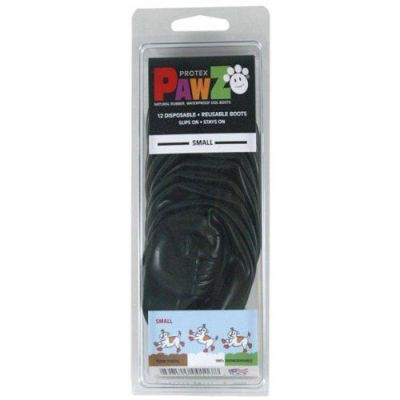 Pawz Natural Disposable Reusable Dog Boots - Small BLACK