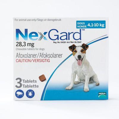 尼可信口服型体外驱虫药 小型犬4-10公斤 3粒装 NexGard Chews For Small Dogs 10.1-24lbs (4-10kg),3 Pack