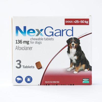 尼可信口服型体外驱虫药大型犬 25-50公斤 3粒装 NexGard Chews For Large Dogs 25-50kg (60.1-121lbs), 3 Pack