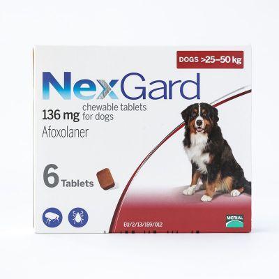 尼可信口服型体外驱虫药大型犬25-50公斤 6粒装 Nexgard Chews  25-50Kg ( 60.1-121lbs), 6 PACK