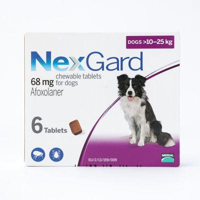 尼可信口服型体外驱虫药中型犬 10-25公斤 6粒装 NexGard Chews for Medium Dogs 10-25kg (24.1-60lbs), 6 Pack