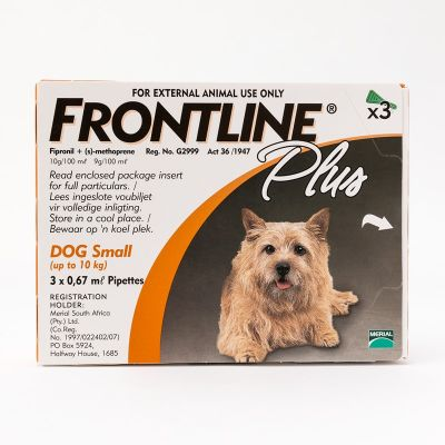 福莱恩小型犬体外驱虫滴剂10公斤以下体重 3支装 Frontline Plus For Small Dogs under 22lbs (10kg), 3 Pack