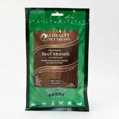 澳洲Loyalty宠物零食牛肉丝 100克 Loyalty Pet Treats Beef Morsels 100G