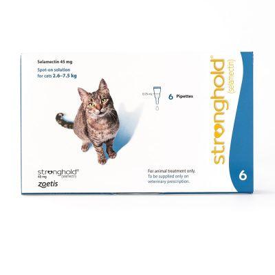 欧版辉瑞大宠爱成猫体外驱虫滴剂 6 支装  Stronghold for Cats  Blue 6 Pack