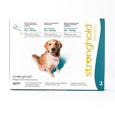 欧版辉瑞大宠爱 适用 适用体重20.1-40公斤犬用 3支装  Stronghold For Dogs 20.1-40kg (44-88lbs) Teal, 3 Pack