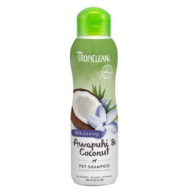 多美洁夏威夷白姜可可亮白宠物香波 Tropiclean Awapuhi & Coconut Pet Whitening Shampoo