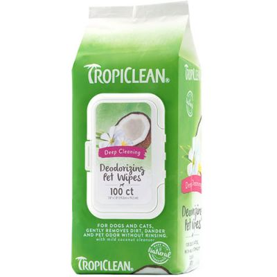 多美洁深层祛味宠物湿巾 Tropiclean Deep Cleaning Deodorizing Pet Wipes