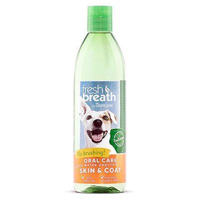 多美洁洁齿水亮泽毛发配发 Tropiclean Fresh Breath Oral Care Water Additive Plus Skin & Coat