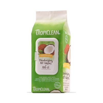 多美洁低敏祛味宠物湿巾 Tropiclean Hypoallergenic Deodorizing Pet Wipes
