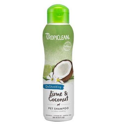 多美洁柠檬可可油宠物香波 防脱 Tropiclean Lime & Coconut Pet Shampoo (For Shedding Reduction)