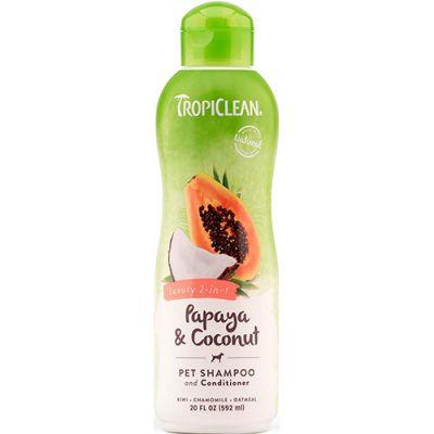 多美洁奢华木瓜可可二合一配方宠物香波 Tropiclean Luxury 2-in-1 Papaya & Coconut Pet Shampoo