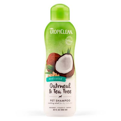 多美洁药用燕麦茶树油宠物狗香波 Tropiclean Medicated Oatmeal & Tea Tree Dog Shampoo