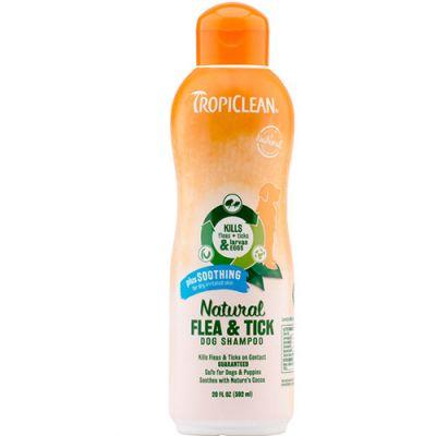 多美洁天然驱虱除蜱舒缓型宠物狗香波 Tropiclean Natural Flea and Tick Dog Shampoo Plus Soothing
